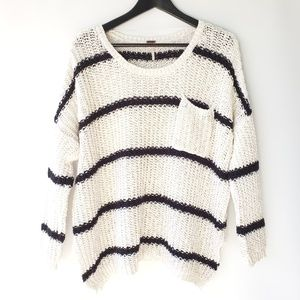 Free People Loose Knit Oversized Sweater, size S